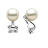 White Elite Collection Freshwater Pearl Clip-On Earrings, Sizes: 7.0-11.0mm, 14K White Gold