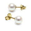 White Freshwater Pearl Earrings, 6.5-7.0mm
