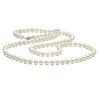 White Freshwater Opera Length Pearl Necklace, 7.5-8.0mm, 14K White Gold