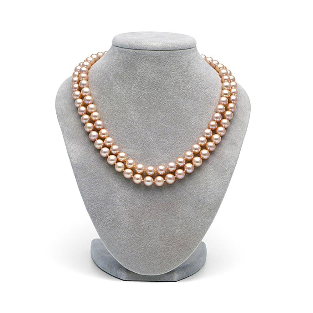 8e06c44db29fb Pink Freshwater 18/19-Inch Double-Strand Pearl Necklace, 8.5-9.0mm