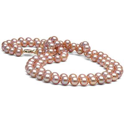 Pink Freshwater 18/19-Inch Double-Strand Pearl Necklace, 8.5-9.0mm