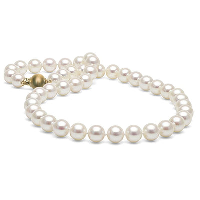 Elite Collection White Freshwater Pearl Necklace, 9.0-9.5mm