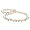 White Elite Collection Pearl Necklace, 8.5-9.0mm, 14K Yellow Gold