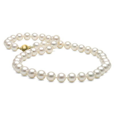 White Elite Collection Pearl Necklace, 8.5-9.0mm, 14K White Gold