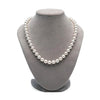 Elite Collection White Freshwater Pearl Necklace, 8.5-9.0mm on Necklace Bust