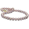 Lavender Freshwater Pearl Necklace, 9.0-9.5mm