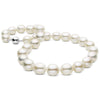 "Limited Edition White Freshwater Smooth Drop ""Edison"" Pearl Necklace, 11.0-15.0mm Approx., 18-Inches, 14K White Gold Version"
