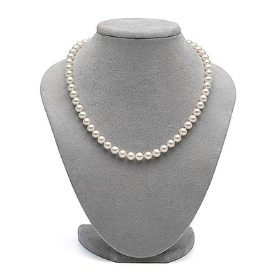 Elite Freshwater Necklace, 6.5-7.0mm on Necklace Bust