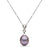 Metallic 'Wild Orchid' Lavender Freshwater Drop Pearl and Diamond Infinity Pendant, 11.0-12.0mm