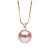Pink Freshwater Pearl and Diamond Radiance Pendant, 9.5-10.0mm