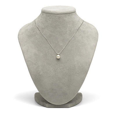 White Freshwater Classic Pearl Pendant, 7.0-10.0mm As Shown on Jewelry Bust