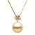 Golden South Sea Pearl and Diamond Elsa Pendant