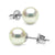 Untreated, Natural Color White Hanadama Akoya Pearl Earrings, 7.0-7.5mm