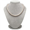 White Hanadama Akoya Pearl Necklace, 9.0-9.5mm on Bust