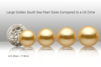 Large South Sea Pearl Sizes vs US Dime