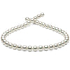 Natural Color, Untreated White Hanadama Akoya Pearl Necklace, 8.5-9.0mm