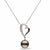 Black Tahitian Pearl and Diamond Heart Pendant, 8.0-9.0mm