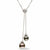Black Tahitian Pearl and Diamond Pave Lariat, 8.0-10.0mm