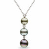 Tahitian Triple-Tier Pearl and Diamond Pendant