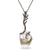 "White Baroque Freshwater Pearl and Champagne Diamond ""Black Coral"" Pendant, 21.0mm"