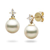 White Akoya Pearl and Diamond 'Evening Star' Earrings