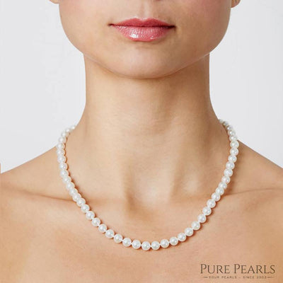 6.0-7.0mm Pearl Size Necklace as Shown on Model