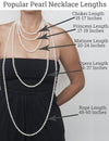 Popular Pearl Necklaces Lengths as Shown on Model