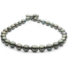 Green and Steel and Free Form Baroque Tahitian Pearl Necklace, 18-Inch, 8.1-11.1mm, AAA Quality