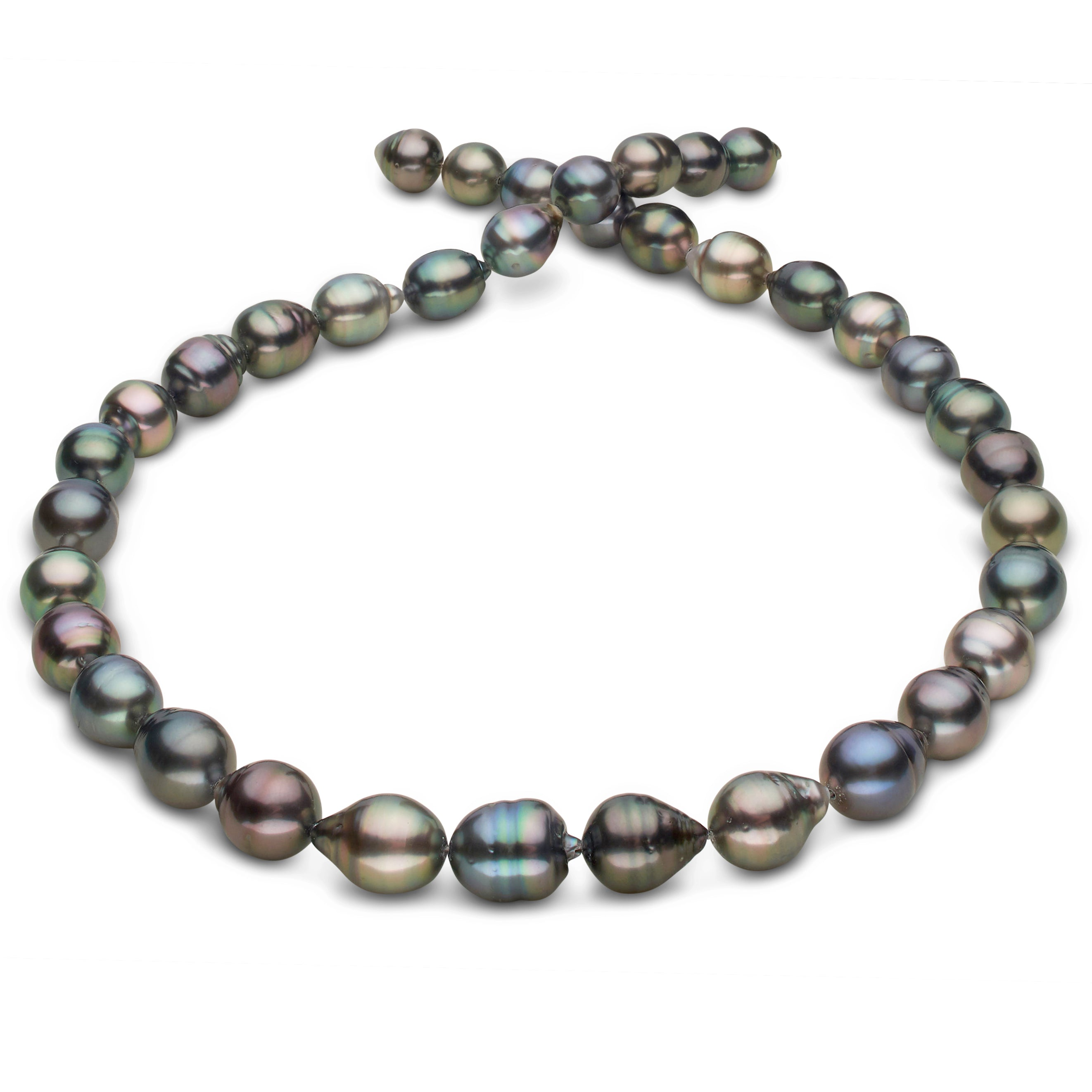 Freshwater Pearl 8-9mm Offround Peacock Black Colour dyed Grade AA Loose Beads 15 inch Jewelry Supply Bracelet Necklace Material Support