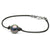 Black Tahitian Round Pearl on Leather Bracelet, 11.0-12.0mm, AAA Quality, Sterling Silver
