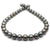 Dark Steel and Subtle Peacock Round Tahitian Pearl Necklace, 18-Inch, 9.9-12.3mm, AA+ Quality
