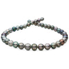 Silvery Multi-Color Off-Round Tahitian Pearl Necklace, 18-Inch, 8.2-11.5mm, AA+ Quality