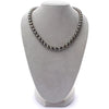 Dark Silver and Subtle Peacock Round Tahitian Pearl Necklace, 18-Inch, 8.1-10.7mm, AA+ Quality