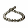 Dark Silver and Subtle Cherry True Round Tahitian Pearl Necklace, 18-Inches, 15.0-16.1mm, AA+ Quality