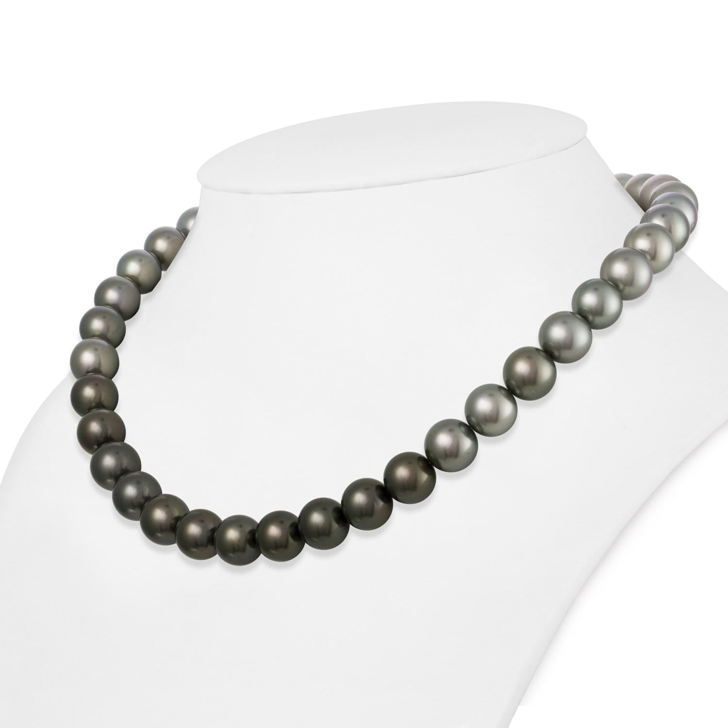 HUGE 10-11mm super luster SOUTH SEA BAR PEOQUE GREY PEARL NECKLACE 18inch