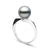 Black Tahitian Pearl Serenity Solitaire Ring, Sizes: 10.0-11.0mm