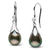 Tahitian Drop-Shape Pearl and Diamond Lily Dangle Earrings