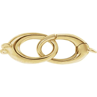 14K Gold Triggerless Oval Lobster Clasp