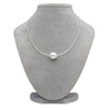 White South Sea Baroque Pearl Solitaire Omega Necklace, 14.0-15.0mm on Necklace Bust