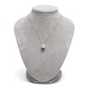 White South Sea Pearl Classic Solitaire Pendant, Sizes 10.0-14.0mm on Jewelry Bust