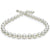 Light Silver-Blue White South Sea Near Round Pearl Necklace, 18-Inch, 9.53-12.68mm, AA+/AAA Quality