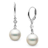 White South Sea Pearl and Diamond Aerie Collection Dangle Earrings, Sizes: 9.0-12.0mm, 14K White Gold