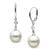 White South Sea Pearl and Diamond Aerie Collection Dangle Earrings, Sizes: 9.0-12.0mm