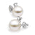 White South Sea Pearl and Diamond Glimmer Earrings, Sizes 9.0-13.0mm