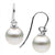 White South Sea Pearl and Diamond Shepherd Hook Earrings