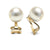 White South Sea Pearl Clip-On Earrings, Sizes: 9.0-14.0mm