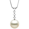 White South Sea Pearl and Diamond Constellation Pendant, Sizes: 10.0-13.0mm, 14K Yellow Gold