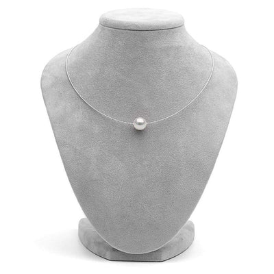 White South Sea Pearl Solitaire Fixed Omega Necklace