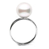 White South Sea Pearl Solitaire Ring, Sizes: 10.0mm-12.0mm