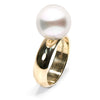 White South Sea Pearl Comfort-Fit Ring, Sizes: 11.0-13.0mm, 14K Yellow Gold Version, Main Image